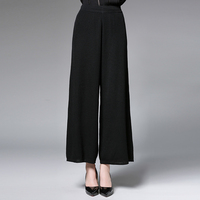 Wide Leg High Waist Pants Autumn Plus Size Women 2017 Loose L 3XL Slim Casual Full