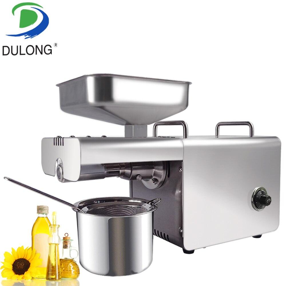 Presseur d'huile d'amande mini noix de coco en acier inoxydable presseur d'huile à usage domestique machine de presse à huile d'arachide faisant la machine expulseur d'huile