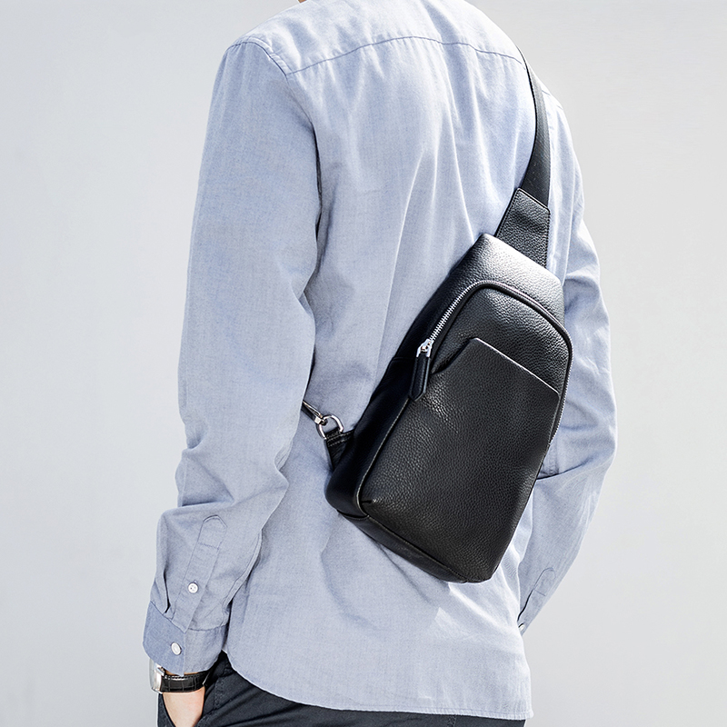 Image 3 - Xiaomi Mijia Youpin Fashion VLLICON Casual Men's Suede Leather Chest Bag Shoulder Bag 190*80*320mm-in Bags from Consumer Electronics