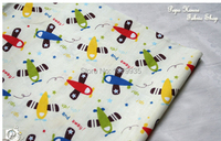 Free Shipping 160 100cm Cartoon Airplane Printed Cotton Fabric Baby Bedding Home Textile Sewing Upholstery Fabric