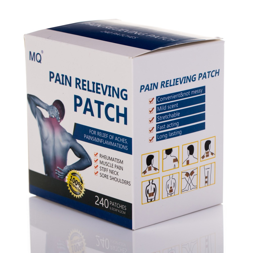 480 Pcs 2 Boxes Herbal Pain Patch Relieve Sore Muscles Menthol Adhesive Medical Plaster Pain Relief