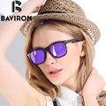 BAVIRON Estilo Diseñador de la Marca gafas de Sol Mujeres Pareja Gafas Rayo Caja de Marco gafas de Sol de Espejo TR90 Alta Calidad Libre 9001