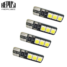 4pcs T10 canbus LED 194 168 W5W Bright Double No Error Canbus 6 SMD LED Car Interior Bulbs Light Parking Width Lamps Warm White youen ba9s 6smd 5630 led canbus lamps error free t4w car led bulbs interior lights car light source parking 12v white 8000k