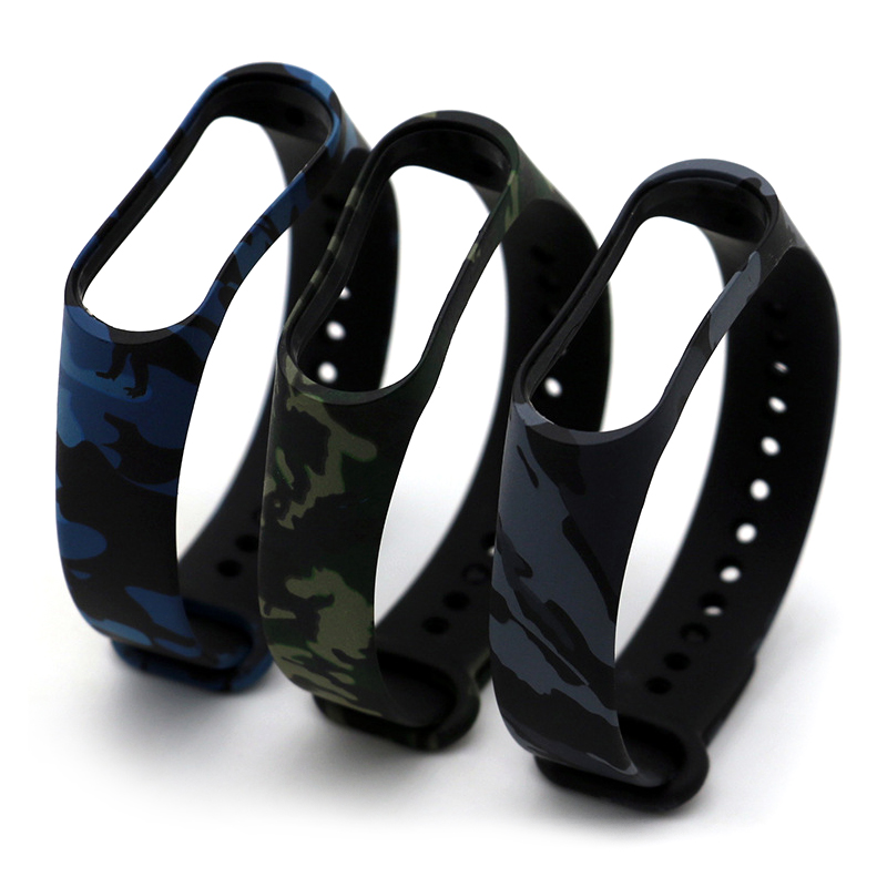 Camouflage Wrist Strap For Xiaomi Mi Band 4 Watch Replacement Silicone Wrist Band For Mi Band 4 Watch Band Smart Accessories