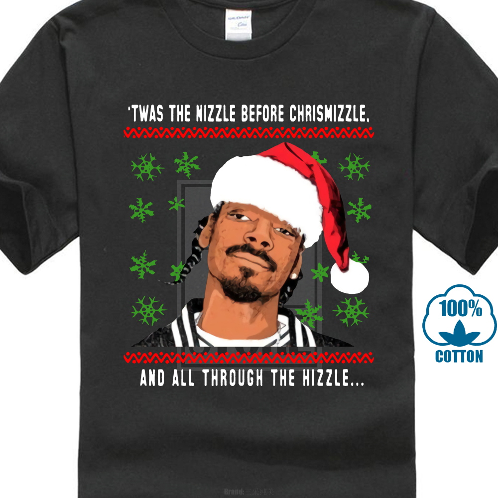 Snoop Dogg Christmas.Us 8 79 12 Off Snoop Dogg Christmas Twas The Nizzle Before T Shirt In T Shirts From Men S Clothing On Aliexpress Com Alibaba Group
