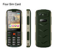 "Original H8 Mobile Phone 2.8"" four 4 SIM card 4 standby Bluetooth Flashlight 3000mAh Power Bank Phone Russian Language Student"