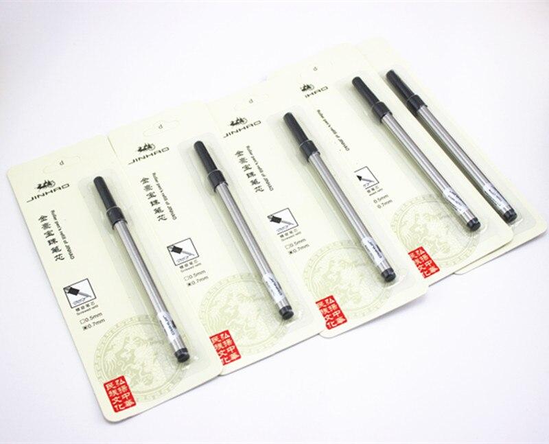 5pcs Jinhao Screw Type Refills For Rollerball Pen 0.7mm Black Blue Choose