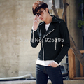 Men Punk Rock Motorcycle Faux Leather Biker Jacket Coat Zipper Outerwear
