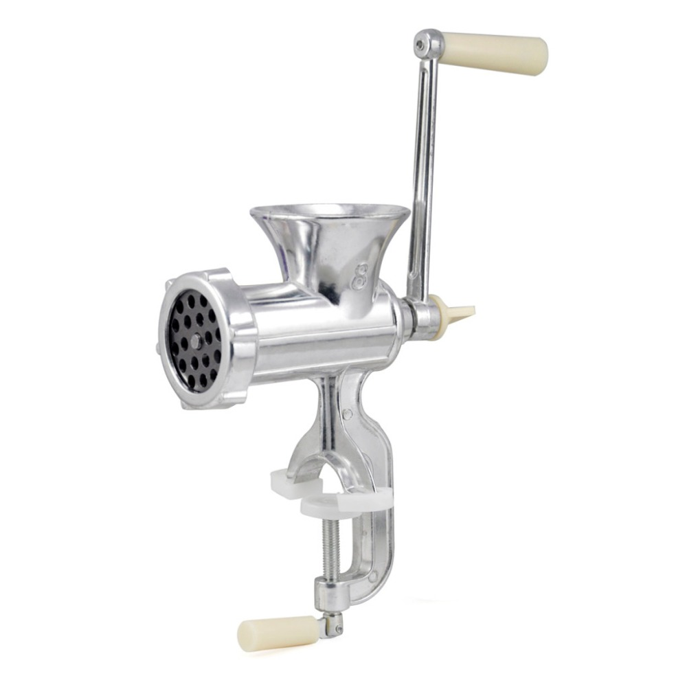 Retro Hand Operated Manual Kitchen Clamp Grinder Meat Mincer Maker Beef Sausage Making Gadgets Kitchen Cooking Tools hand operated meat grinder beef noodle sausages maker household manual meat grinding machine