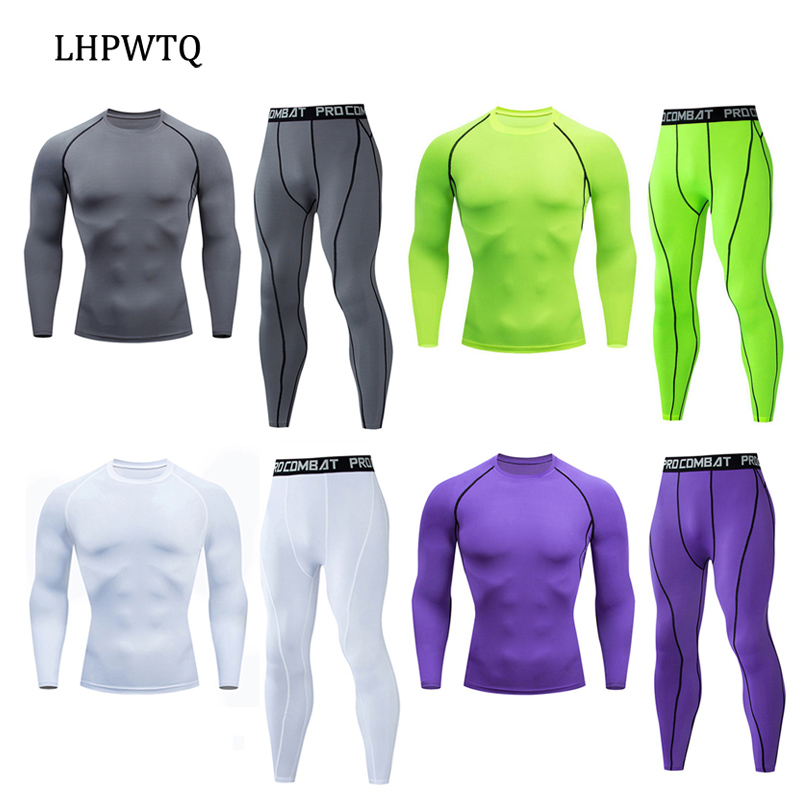 New Compression Men's Sport Suits Quick Dry Running Sets Clothes Sports Joggers Training Gym Fitness Tracksuits Running Set