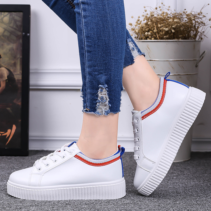 New Hot Fashion Women Shoes Flats White PU Rubber Round Toe Slip On Casual Korean Spring Autumn Suede Superstar KDL-303
