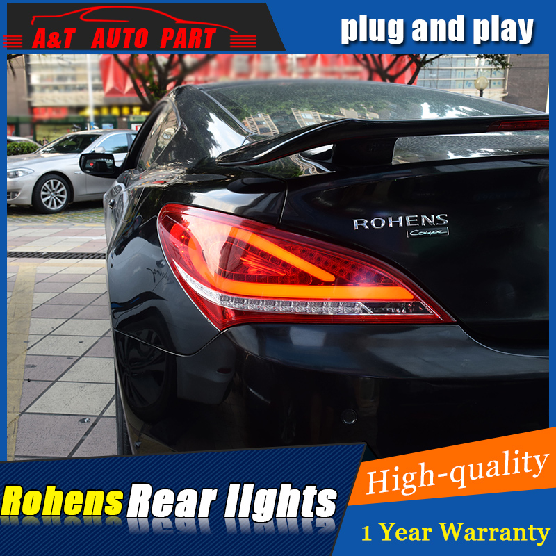 Car styling Accessories for Hyundai Rohens Coupe rear Lights led TailLight for Coupe Rear Lamp DRL+Brake+Park+Signal lights led