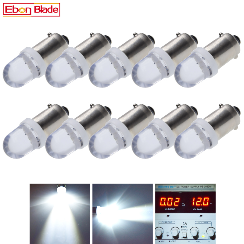 10Pcs BA9S T11 T4W LED Lamps 1SMD Auto Interior Lighting Dome Map Reading Light Side Wedge Parker Bulbs White 12V DC Car Styling-in Signal Lamp from Automobiles & Motorcycles