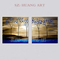 Large Size hand painted Mark Rothko Famous Abstract Blue Tree oil Paintings Canvas Wall Art Pictures Home Decor For Living