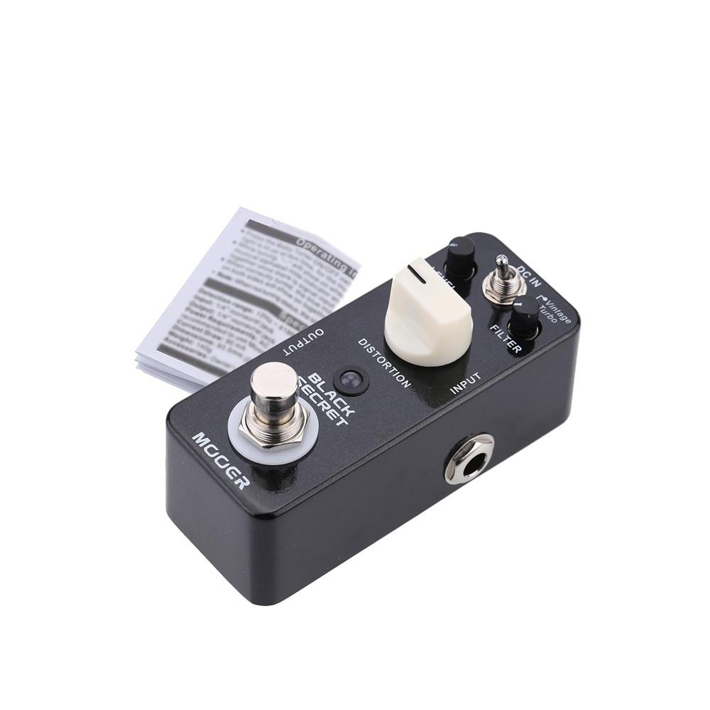 Mooer Black Secret Micro Mini Distortion Electric Guitar Effect Pedal True Bypass