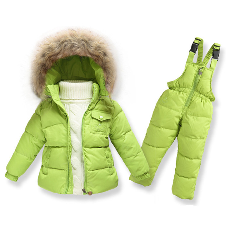 2016 New Winter Children Down Romper Clothes Sets Boys Ski Suit Girl Down Jacket Coat + Jumpsuit Set 1-6 Years 2017 children winter clothing set kids ski suit baby boy girl down jacket coat jumpsuit 2pcs suit