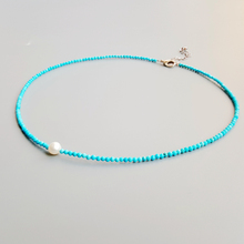 Turquoises Freshwater Pearl Beads Choker Necklace Natural Stone Popular Jewelry for Women Nice Gift 38+6cm Dropshipping