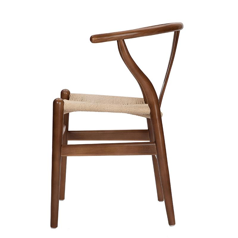 Nordic style dining chair New Chinese casual solid wood Y chair Western restaurant coffee shop back armchair - Цвет: style 6