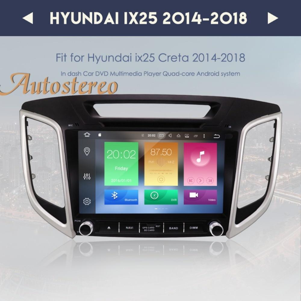 Android 8.0 lecteur dvd De Voiture navigation gps Pour HYUNDAI IX25 2014-2018 CRETA stéréo headunit radio multimédia enregistreur à bande IPS