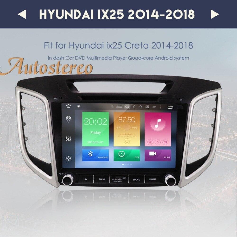 Octa core Android 8.0 9 inch Car DVD Player GPS Navigation For HYUNDAI IX25 2014 2018 CRETA Auto navi stereo headunit multimedia