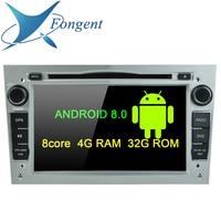 4G Android 8.0 Unit 2 DIN DVD GPS for Vauxhall Opel Astra H G J Vectra Antara Zafira Corsa Multimedia screen radio stereo NAVI