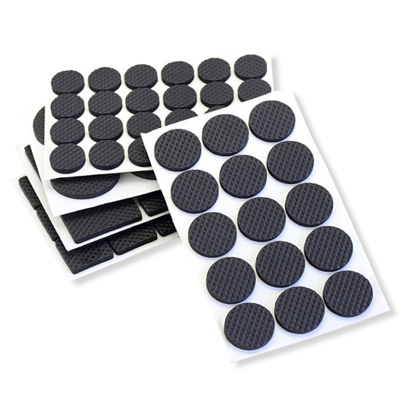 Non-slip Self Adhesive Floor Protectors Furniture Sofa Table Chair Rubber Feet Pads to Protect Tables Leg Square and Round TSLM1