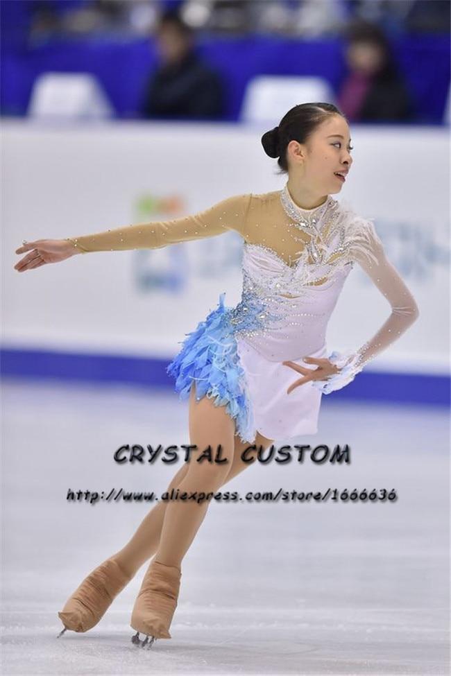 Personalizzati ragazze abiti graceful nuova marca ice vestiti pattinaggio pattinaggio di figura per la concorrenza dr4374