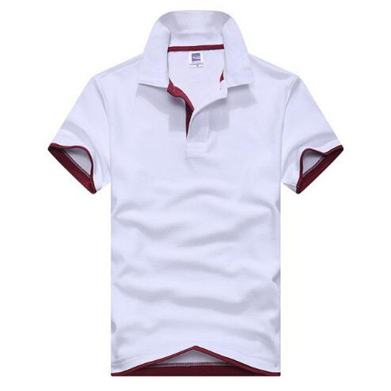 2019 Verão Nova Moda Camisetas Masculinas Polo de Manga Curta Gola Virada  Para Baixo Verão Camisa Pólo masculina Casual 15 Cores e4da88cafaf32