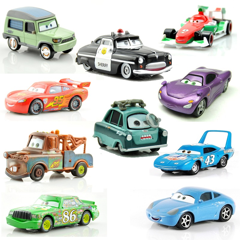 Disney Pixar Cars 2 3 Figures Lightning McQueen The King Jackson Storm Mater 1:55 Diecast Metal Alloy Model Car Kid Gift Boy Toy