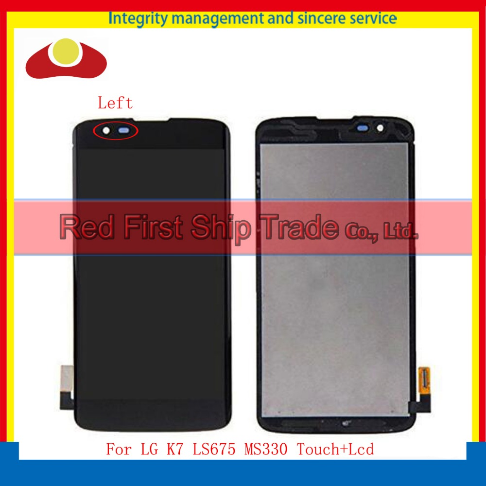 10pcs DHL High Quality 5.0 For LG K7 LS675 MS330 Full Lcd Display Touch Screen Digitizer Assembly Complete Black Tracking Code