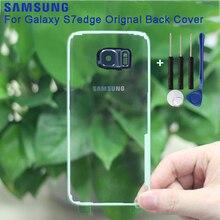 Original Transparent Version Samsung Glass Housing Back Cover Cases For Galaxy S7 G9300 S7 Edge G9350 Phone Rear Battery Door стоимость