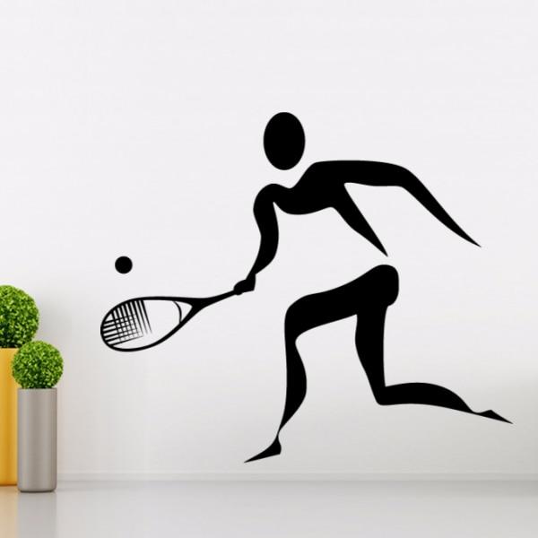 Game Tenis Olahraga Sketsa Pernikahan Dekorasi Dinding Decal