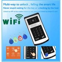 A ndroid ISO App WIFIวิดีโอประตูโทรศัพท์RFIDและปุ่มกดรหัสออดไฟฟ้าล็อคระบบนำไปใช้กับครอบครัว/ชั้น/วิลล่า/...