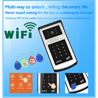 Android ISO App WIFI Video Door Phone RFID Code Keypad Doorbell Electric Lock System Apply To