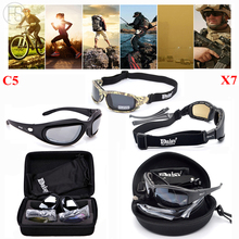 FS X7 Polarized Sunglasses Tactical Goggles C5 Sport Glasses Shooting Hunting Eyewear Hiking Cycling Glasses Oculos Ciclismo