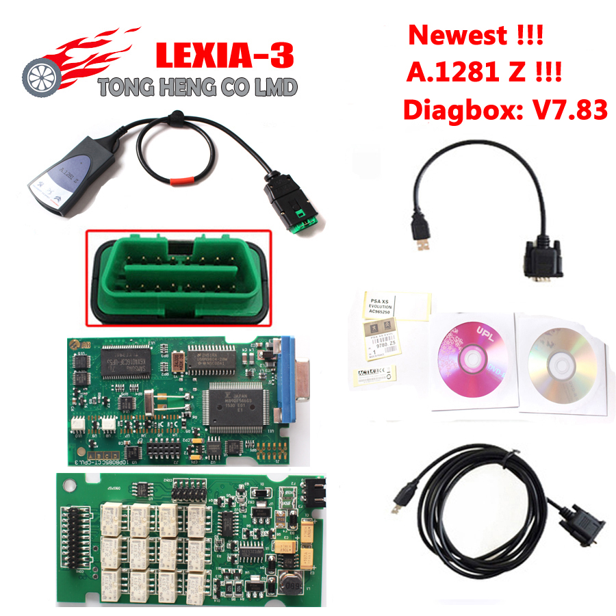 Цена за Новейшие A.1281 Z наклейки!!! 921815C Прошивки Lexia3 Lexia 3 V48 PP2000 V25 Diagbox 7.83 Lexia 3 Lexia-3 PP2000 Диагностический Инструмент