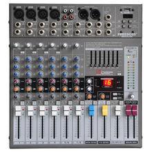Freeboss ME82 Ultra geräuscharm 4 Mono + 2 stereo 8 kanäle 16 DSP USB professionelle dj mini-audio-mischpult