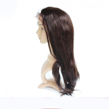 8A Natural Straight Brazilian Remy Human Hair Lace Front Wig & Glueless Full Lace Wig 130% density