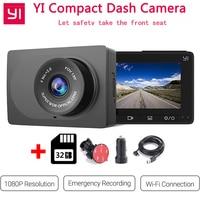 Xiaomi YI Compact Dash Camera 1080p Full HD Car Dashboard Camera 130 WDR Lens G Sensor 2.7 inch LCD Screen Night Vision Car Dvr