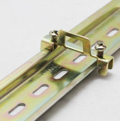 Fixed Rail Clamp 35mm DIN Fasten Clip End Screw Fix Terminal Block Household