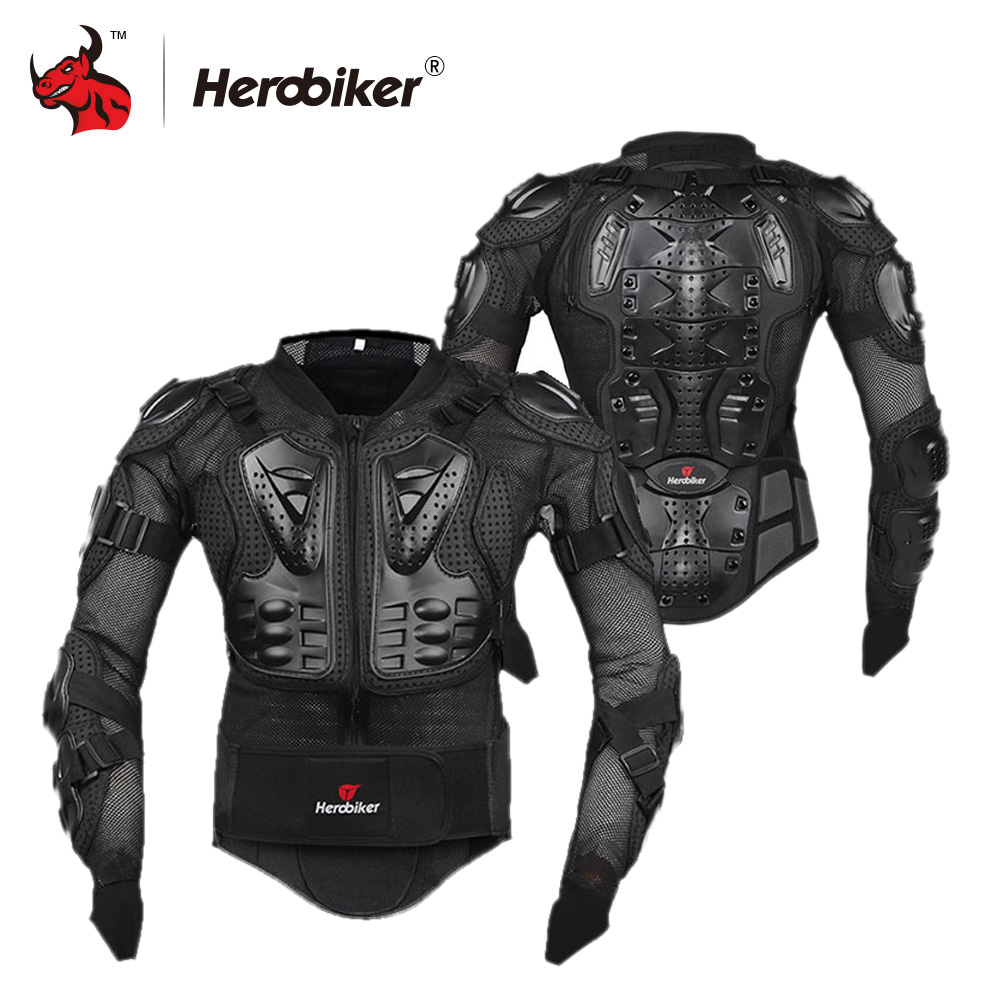 HEROBIKER Motorcycle Jacket Professional Motorcross Racing Body Armor Motorcycle Armor Protective Gear Moto Protection herobiker motorcycle protection motorcycle armor moto protective gear motocross armor racing full body protector jacket knee pad