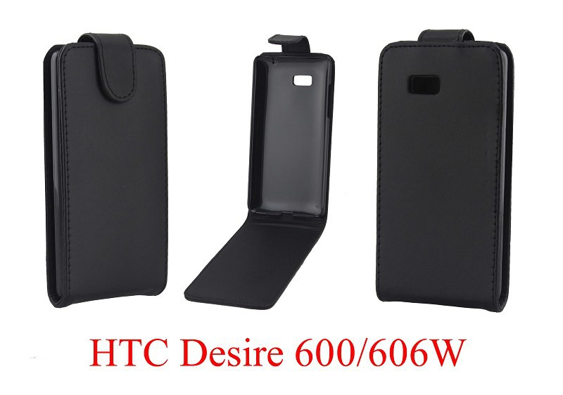 For HTC DESIRE 600 Dual Sim 606W vertical Up and Down Open Flip PU Leather Case Wallet Cover