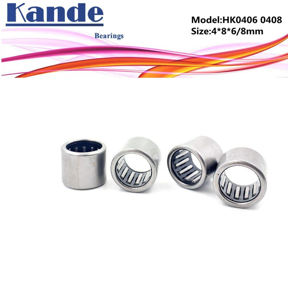 HK0408 Needle Roller Bearing 4mm x 8mm x 8mm 4x8x8 mm 25 PCS