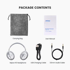 Image 5 - [Versión actualizada] auriculares Bluetooth Mpow H5 originales con cancelación activa de ruido auriculares inalámbricos con micrófono para PC iPhone Xiaomi