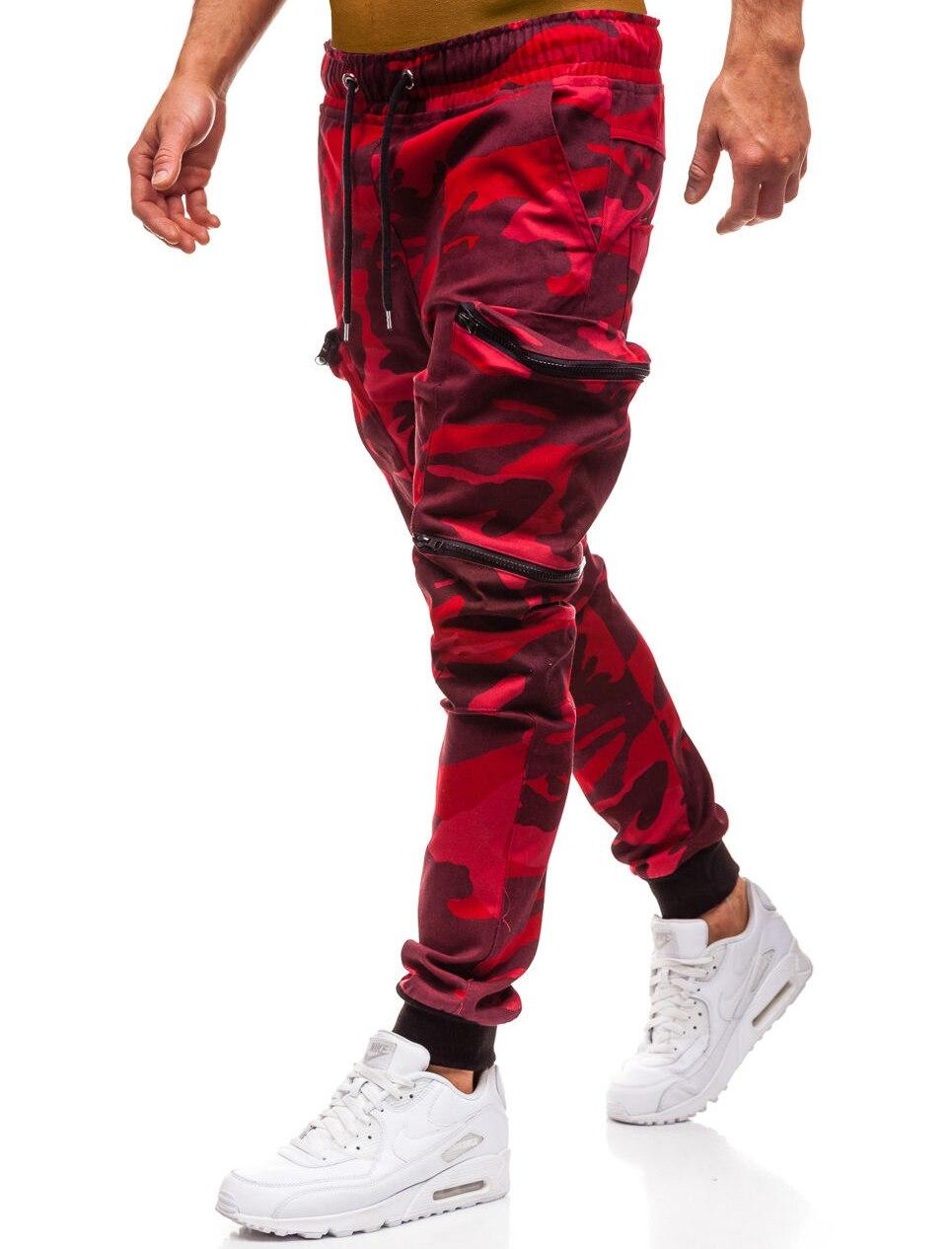 HTB1NqbiL3HqK1RjSZFgq6y7JXXa8 Mens Joggers 2019 New Red Camouflage Multi-Pockets Cargo Pants Men Cotton Harem Pants Hip Hop Trousers Streetwear XXXL
