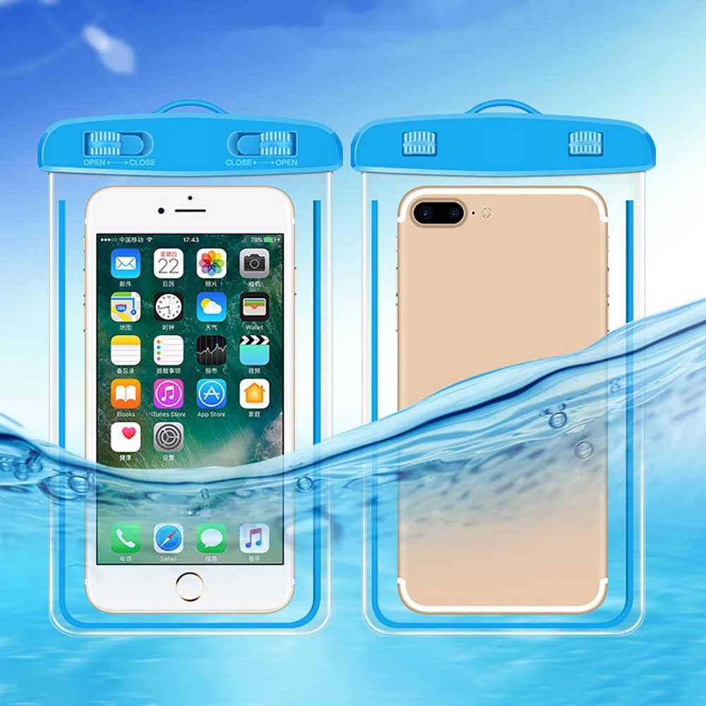 c85a7bd543c ... Bolsa impermeable al aire libre natación playa seco bolsa funda soporte  para teléfono móvil ...