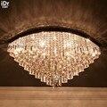 Континентальная столовая хрустальная лампа для спальни LED минималистский домашний вход высококлассный коньячный Овальный светильник Пото...