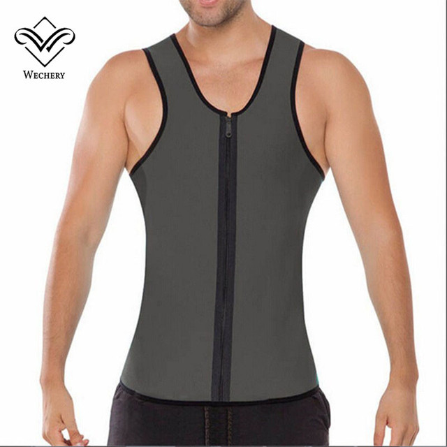 Wechery Body Shaper Man Slimming Belt Belly Men Tummy Slimming Vest Slim Shaperwear Abdomen Corset Waist Trainer Top