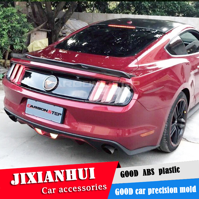 For <font><b>Mustang</b></font> <font><b>Spoiler</b></font> <font><b>2015</b></font>-2018 Ford <font><b>Mustang</b></font> <font><b>Spoiler</b></font> jpk ABS plastic Material Car Rear Wing Color Rear <font><b>Spoiler</b></font> image