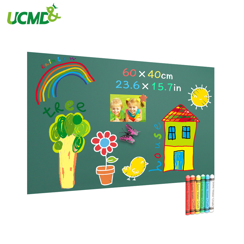 School Learning Chalk Blackboard Wall Sticker Removable Vinyl Drawing Message Green Board For Kids Rooms Decoration 60x40cm